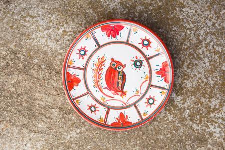 Тарелка Папараць кветка - сова