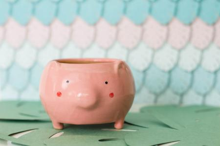 Чашка-горшочек Свинка