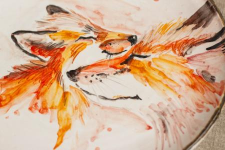 Тарелка лисички