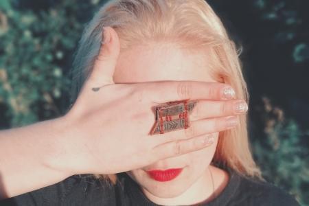 "Набор кольцо+брошка ""Стрелы"""