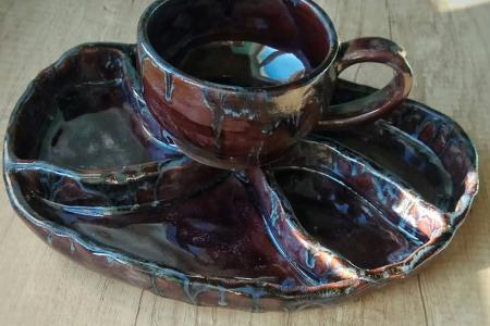 Менажница и чашка
